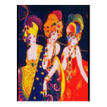 Vintage Colourful Deco Women with Jewellery