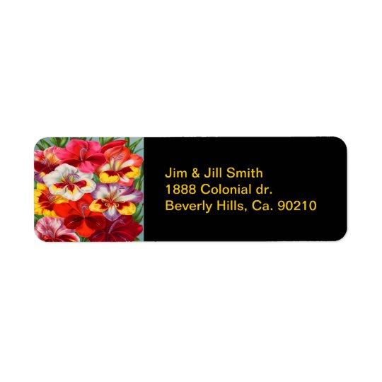 Vintage Colourful Gladiola Garden Return Address Label