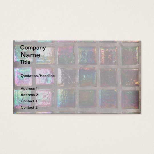 Vintage Colourful Glazed Mosaic Tiles Print Business Card