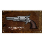 Vintage Colt Revolver Gun Shop Business Cards