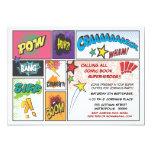 Vintage Comic Book Strip Super Hero  Party Invite 13 Cm X 18 Cm Invitation Card