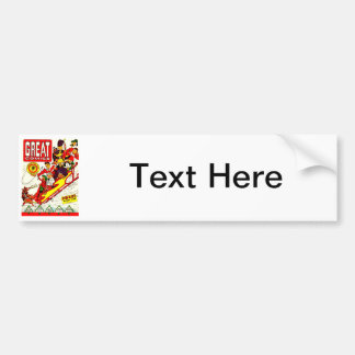 Vintage Comic Characters Bumper Sticker