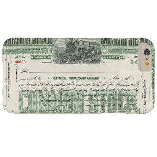 Vintage Common Stock Certificate, Business Finance Barely There iPhone 6 Plus Case