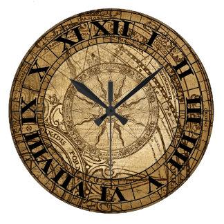 Vintage Compass Art Clock