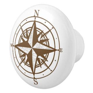 Vintage Compass Ceramic Knob