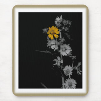 Vintage Compass Flower Mouse Mat