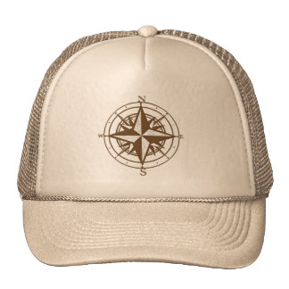 Vintage Compass Mesh Hats