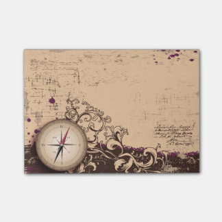 Vintage Compass Postit Notes