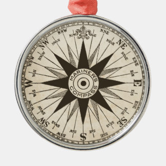 Vintage Compass Rose Christmas Ornament