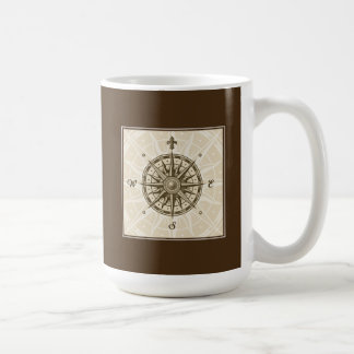 Vintage Compass Rose Coffee Mug