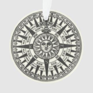 Vintage Compass Rose Sun Ornament
