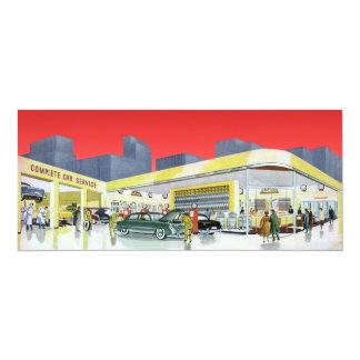 Vintage Complete Car Service Garage Auto Mechanics 10 Cm X 24 Cm Invitation Card