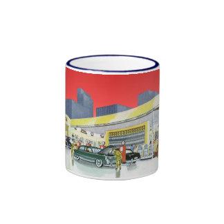 Vintage Complete Car Service Garage Auto Mechanics Ringer Mug
