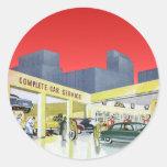 Vintage Complete Car Service Garage Auto Mechanics Sticker