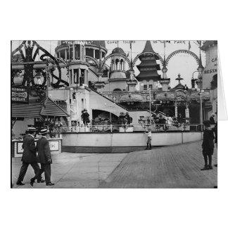 Vintage Coney Island Photograph Greeting Card
