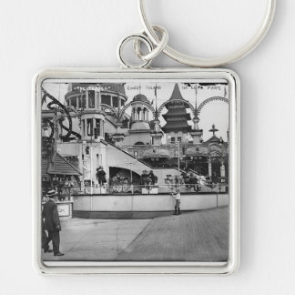 Vintage Coney Island Photograph Key Chain