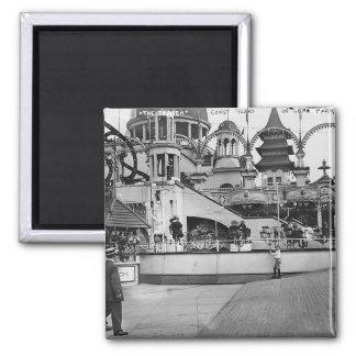 Vintage Coney Island Photograph Magnet