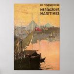 Vintage Constantinople Travel Advertisement Print