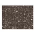 Vintage Constellation Chart Postcard