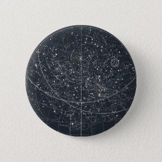 Vintage Constellation Map 6 Cm Round Badge