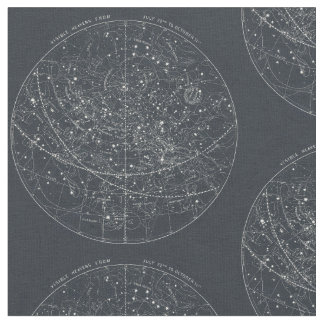 Vintage Constellation Map Fabric