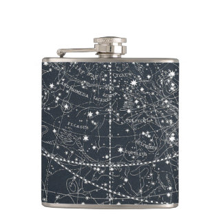 Vintage Constellation Map Flasks
