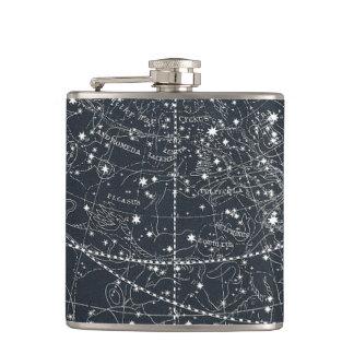 Vintage Constellation Map Hip Flask