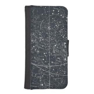 Vintage Constellation Map iPhone SE/5/5s Wallet Case