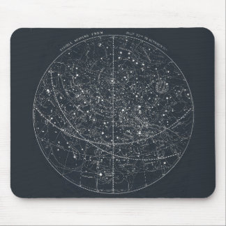 Vintage Constellation Map Mouse Mat