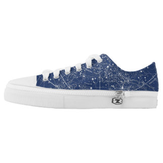 Vintage Constellation Map (Navy) Printed Shoes