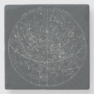 Vintage Constellation Map Stone Coaster
