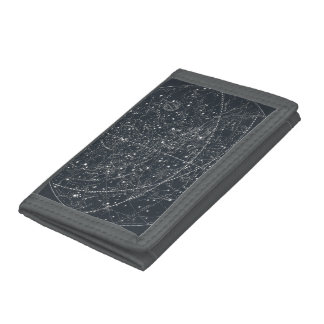 Vintage Constellation Map Tri-fold Wallet