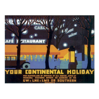 Vintage Continental Holiday Railways Postcard