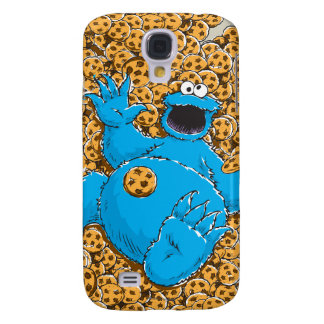 Vintage Cookie Monster and Cookies Galaxy S4 Case