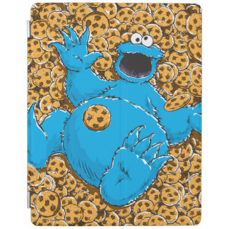 Vintage Cookie Monster and Cookies iPad Cover