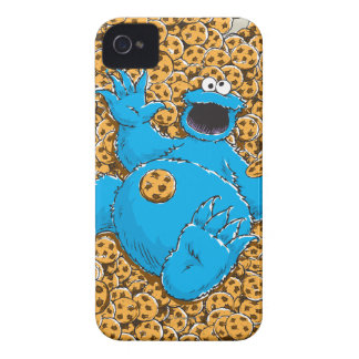 Vintage Cookie Monster and Cookies iPhone 4 Cover
