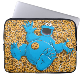 Vintage Cookie Monster and Cookies Laptop Sleeve