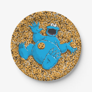 Vintage Cookie Monster and Cookies Paper Plate