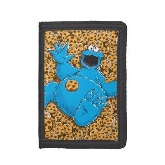 Vintage Cookie Monster and Cookies Tri-fold Wallet