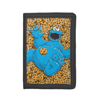 Vintage Cookie Monster and Cookies Tri-fold Wallets