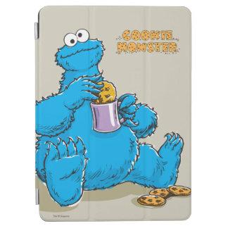 Vintage Cookie Monster Eating Cookies iPad Air Cover
