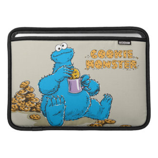 Vintage Cookie Monster Eating Cookies MacBook Sleeve