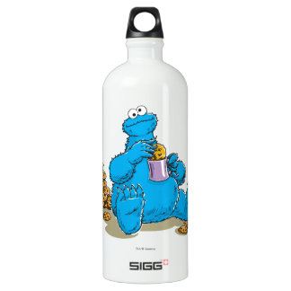 Vintage Cookie Monster Eating Cookies Water Bottle