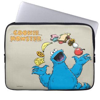 Vintage Cookie Monster Juggling Laptop Sleeve
