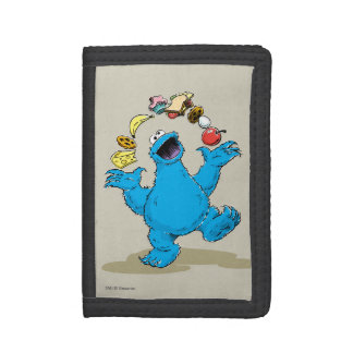 Vintage Cookie Monster Juggling Trifold Wallet