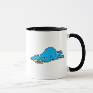 Vintage Cookie Monster Plate of Cookies Mug