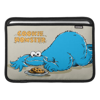 Vintage Cookie Monster Plate of Cookies Sleeve For MacBook Air