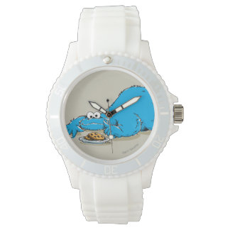 Vintage Cookie Monster Plate of Cookies Wristwatches
