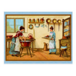 Vintage Cooks in the Kitchen Postcards