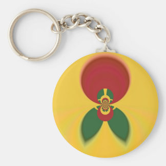 Vintage COOL CUTE RETRO Jamaicans Raster Gift Colo Keychain